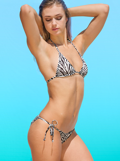 Black & White Zebra bikini - no more tan lines