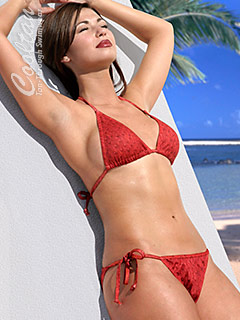 Striking Red Sea bikini lets you tan right through